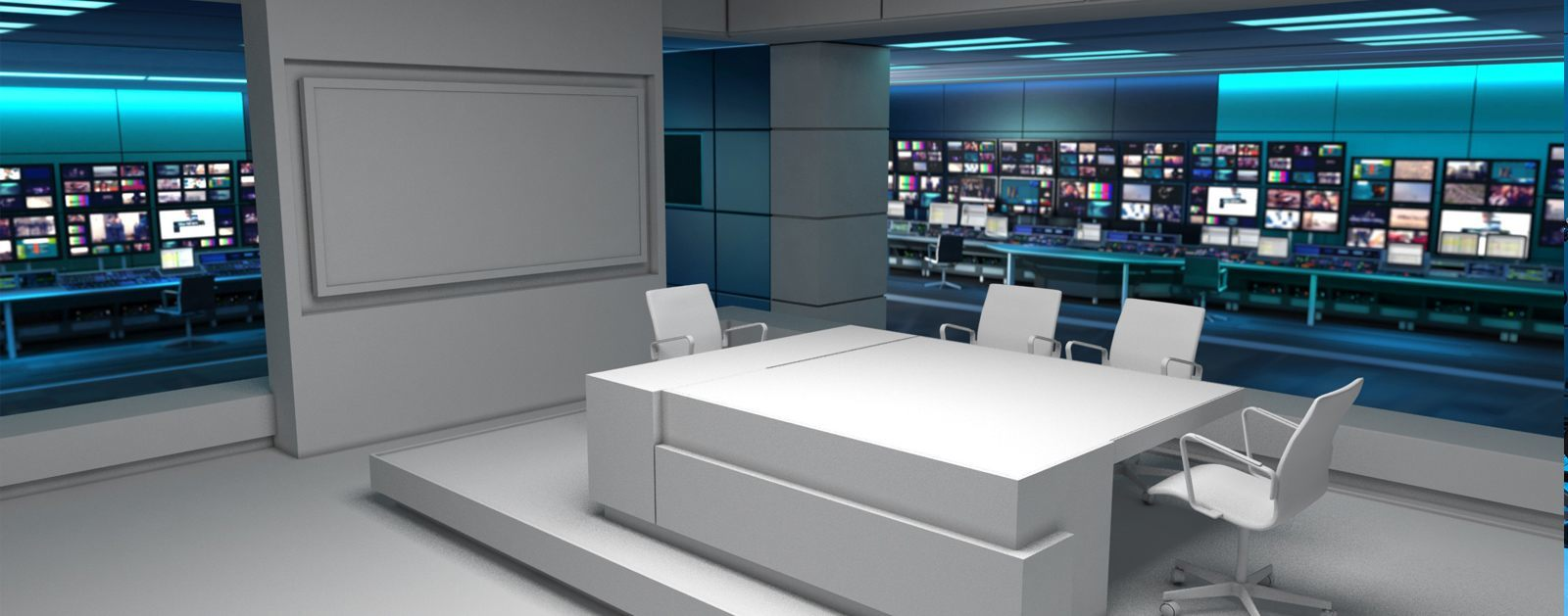 Virtual Set for ITV News