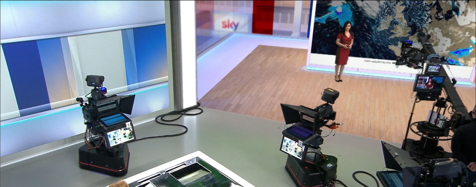 Design and preparation of virtual sets for Sky News