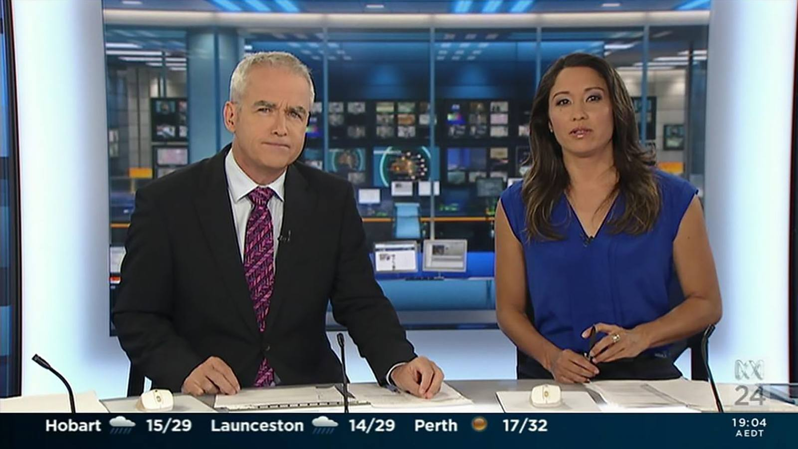 ABC News 24 - Digital backdrops designed and prepared by