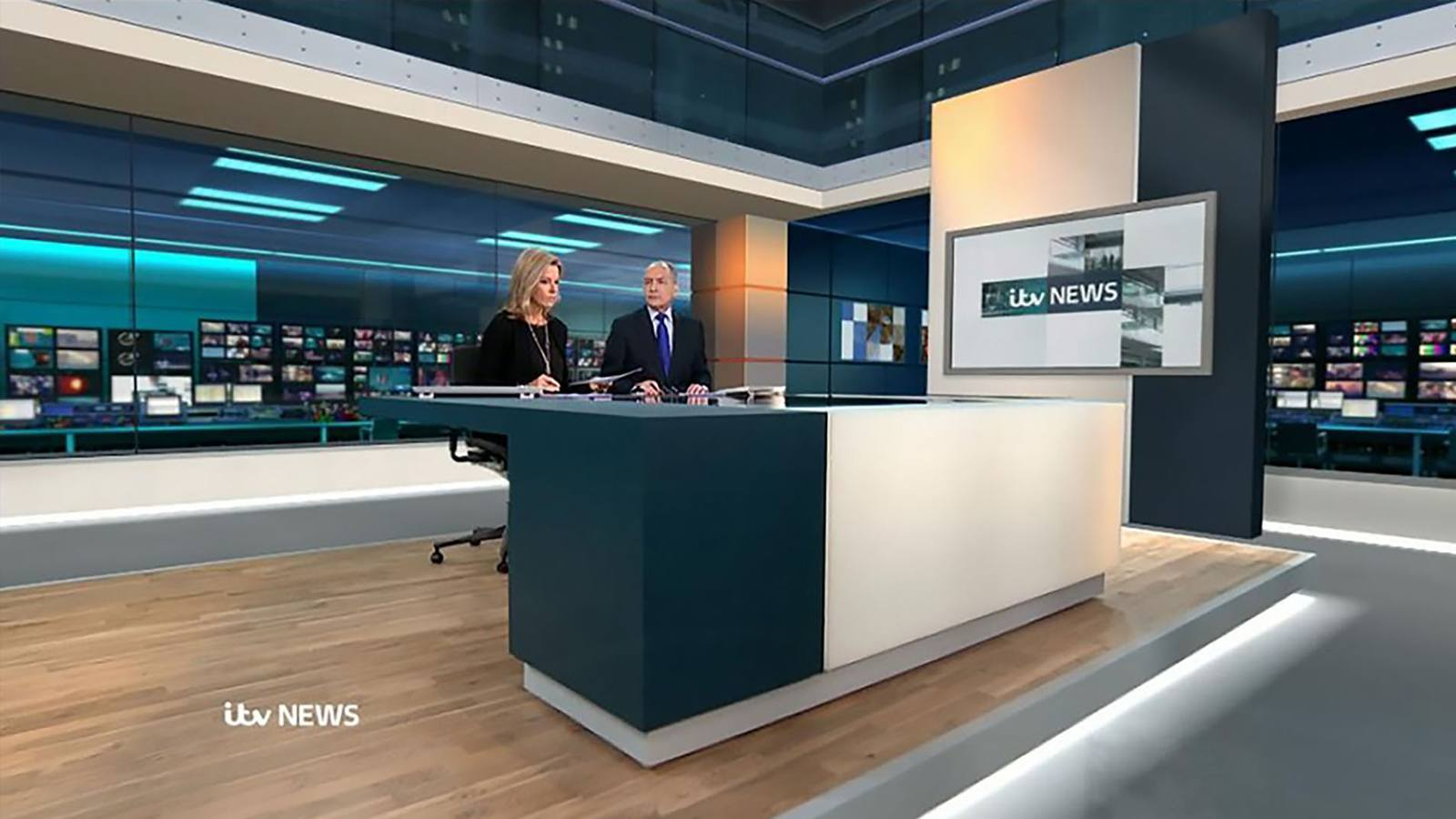 Itv news virtual set designed and prepared by lightwell for Office design news