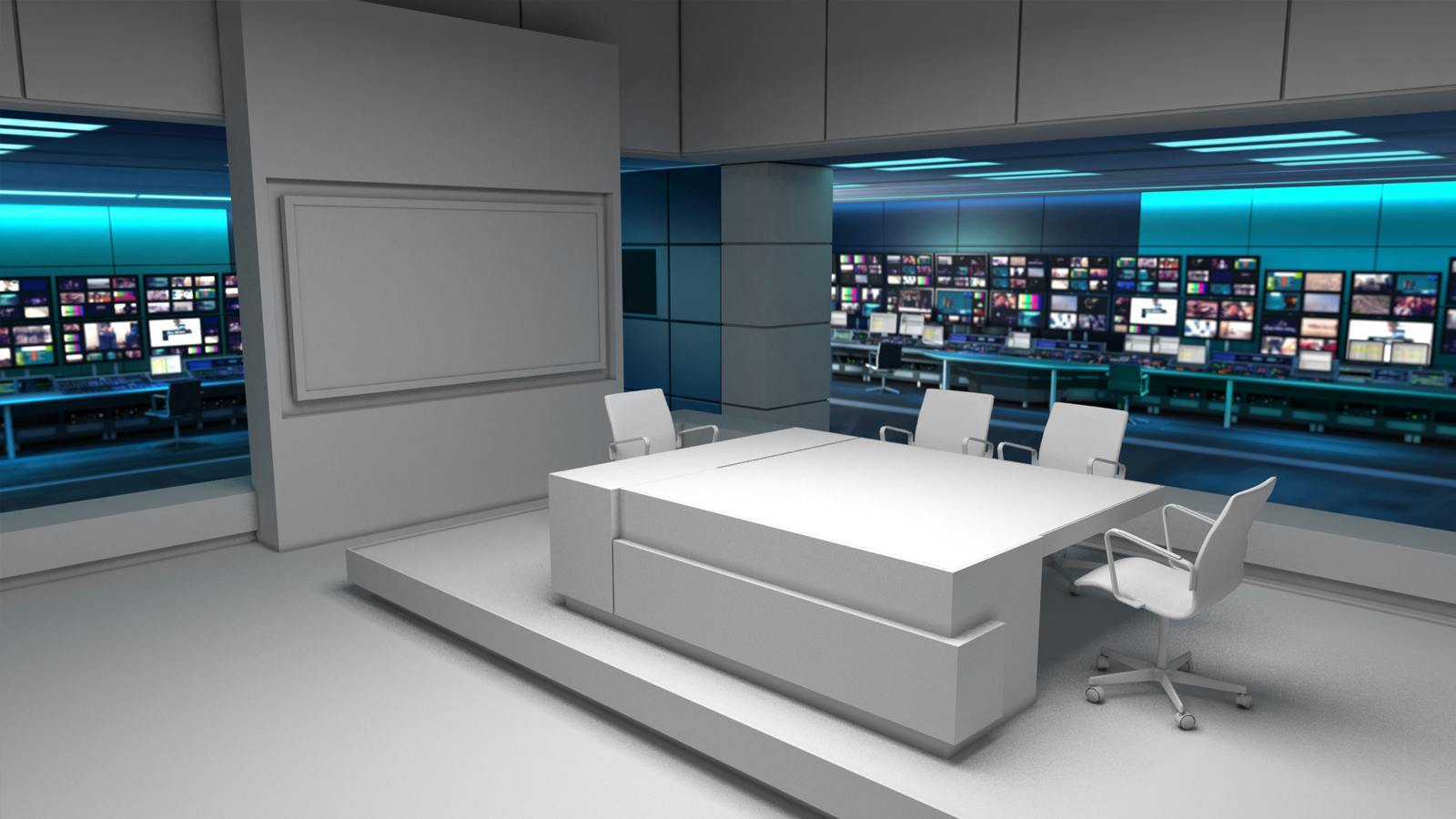 Room Design Virtual Itv News Virtual Set Design 3d