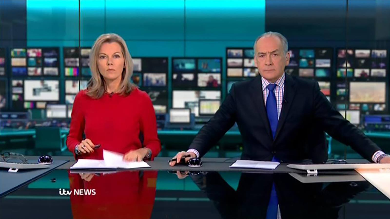 Itv News Virtual Set Designed And Prepared By Lightwell