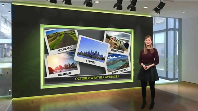 The Met Office virtual set using the Newtek Tricaster